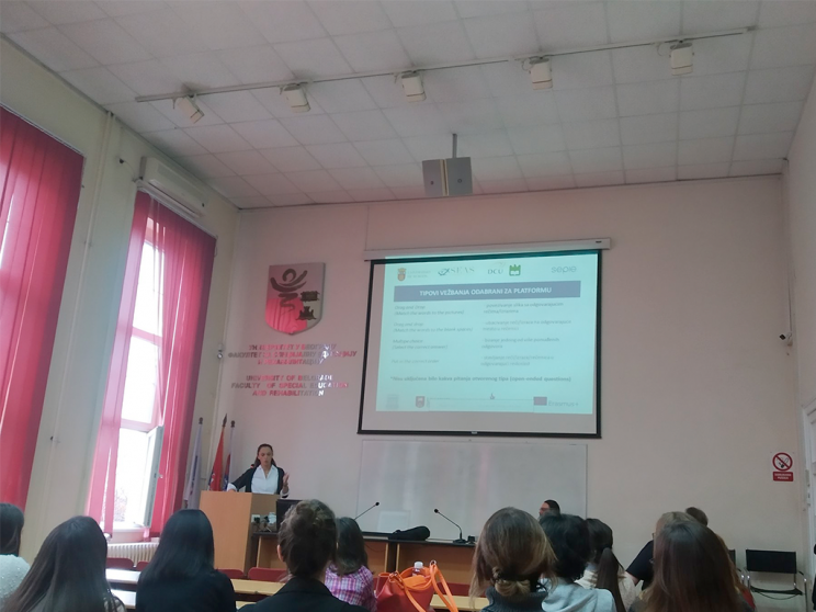 Maja Otancevic explaining the outputs of the project